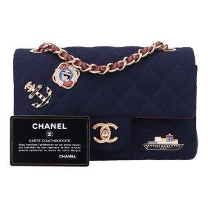 43125 Chanel Timeless Flap Handtasche Tasche Gr. New Mini aus Leder und Woll-Filz, goldfarbenem Metall Paris - Hamburg