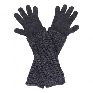 Moncler Knitted Gloves anthracite wool