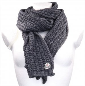 Moncler Knitted Scarf anthracite wool