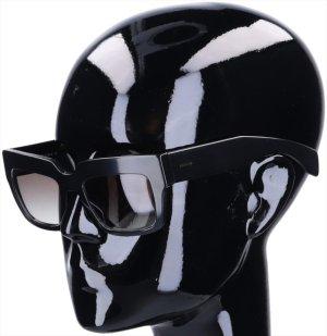 43613 Prada Sonnenbrille aus Acetat in schwarz und goldfarbenem Metall mit Box und Etui