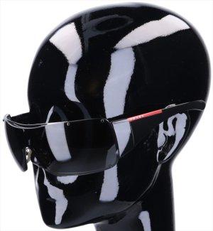 43617 Prada Sonnenbrille Modell SPS51G aus Acetat in schwarz und silberfarbenem Metall mit Etui
