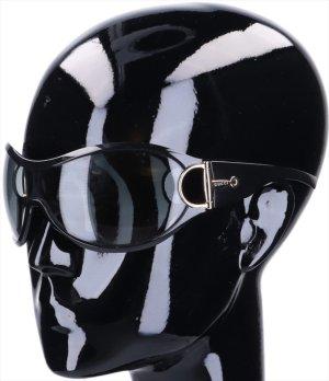 43619 Gucci Sonnenbrille Modell GG2561/S aus Acetat in schwarz und silberfarbenem Metall mit Etui