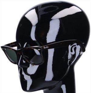 Ray Ban Gafas de sol cuadradas marrón oscuro acetato