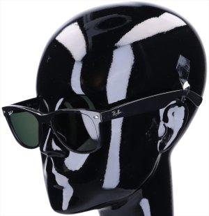 43637 Ray-Ban Sonnenbrille Modell New Wayfarer RB2132 aus Acetat in schwarz und silberfarbenem Metall