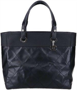 43808 Chanel CC Paris Biarritz MM Shopper Tasche Handtasche in schwarz