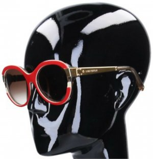44383 Louis Vuitton Sonnenbrille 'Petit Soupcon Cat' Eye aus Kunstharz und goldfarbenem Metall