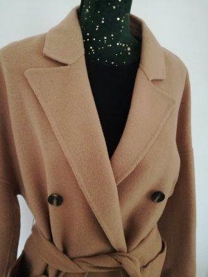 Veste en laine marron clair-beige