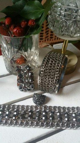 H&M Bangle silver-colored-black