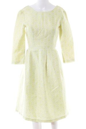 4F Robe de cocktail jaune primevère imprimé allover élégant