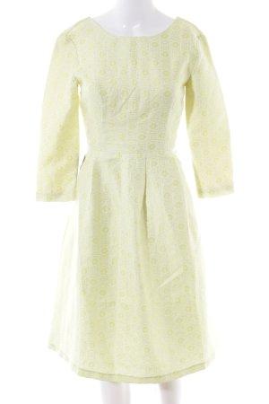 4F Vestido de cóctel amarillo pálido elegante
