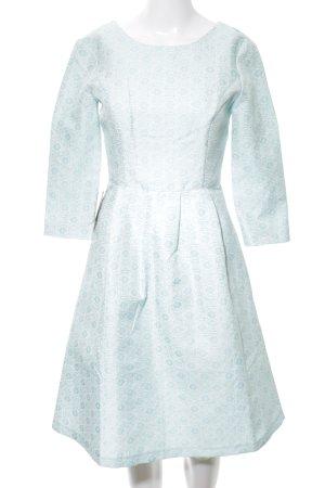 4F Robe de cocktail turquoise imprimé allover style festif
