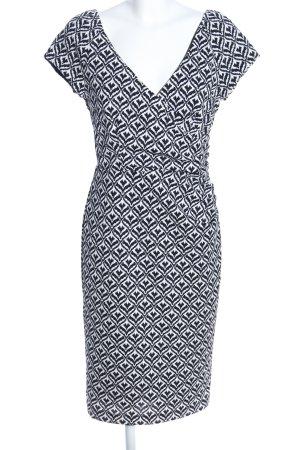 4F Sukienka etui czarny-biały Na całej powierzchni Elegancki