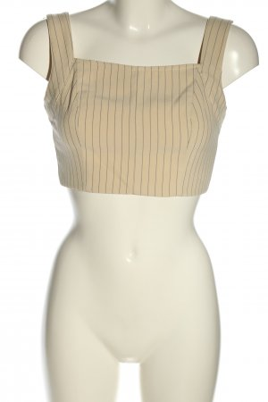 4TH & RECKLESS Cropped Top cream striped pattern elegant