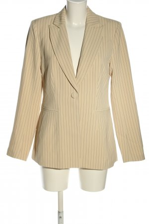 4TH & RECKLESS Short Blazer cream-black striped pattern business style