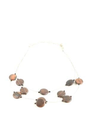 4U Halskette braun-nude Casual-Look