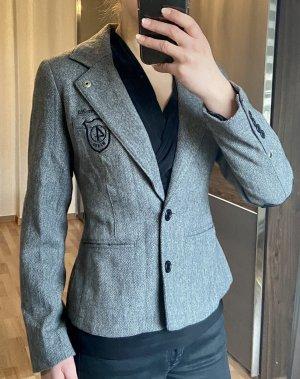 4Wards Wollen blazer zwart-grijs