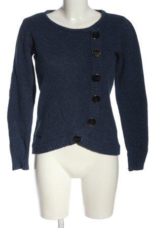4Wards Kraagloze sweater blauw casual uitstraling