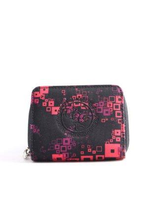 4YOU Portefeuille noir-rose motif graphique style d'affaires