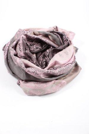 4YOU Écharpe tube rose-brun style décontracté