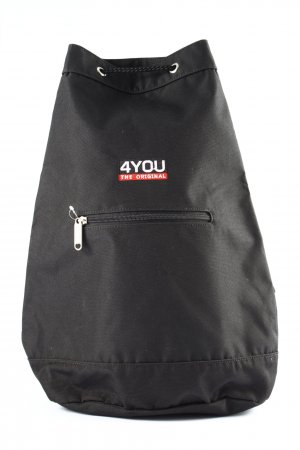 4YOU School Backpack white printed lettering athletic style