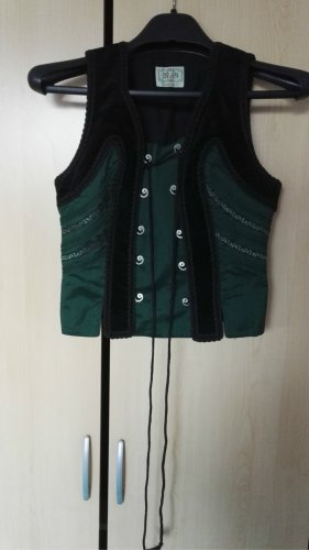 Biker Vest black-forest green