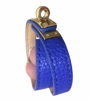 5 Leder Armbänder Wickel Armband Blau Rot Pink Weiß Schwarz ungetragen