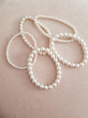 H&M Pearl Bracelet white-natural white