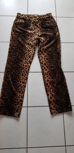 Alberto Pantalone cinque tasche nero-marrone chiaro