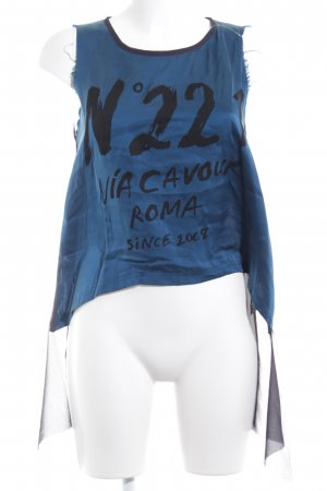 5 Preview Sleeveless Blouse printed lettering casual look