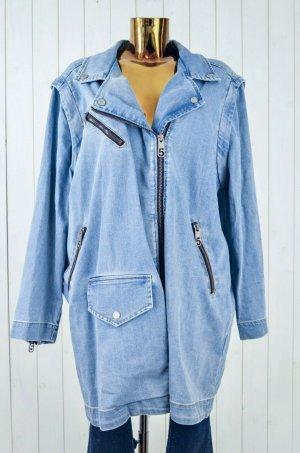 5 Preview Abrigo corto azul celeste-azul pálido Algodón