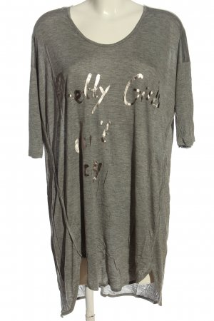 5 Preview Oversized Blouse light grey flecked casual look