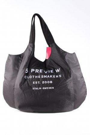 5 Preview Shopper black embroidered lettering casual look