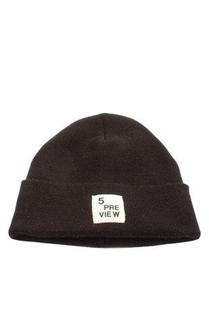 5 Preview Chapeau en tricot noir lettrage imprimé style décontracté
