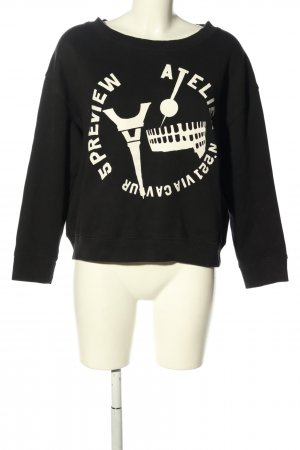 5 Preview Sweat Shirt black-white themed print casual look