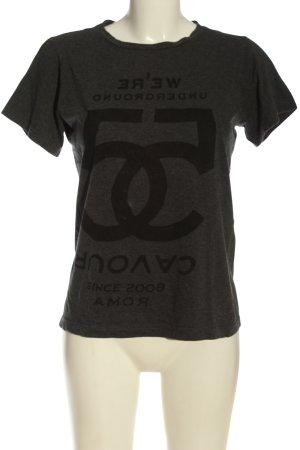 5 Preview T-shirt jasnoszary-czarny Melanżowy W stylu casual