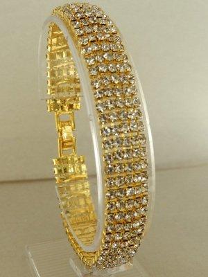 Pulsera color oro metal