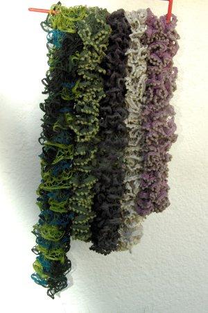 Bufanda de punto multicolor Acrílico