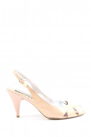 5 th Avenue Peep Toe Pumps natural white casual look