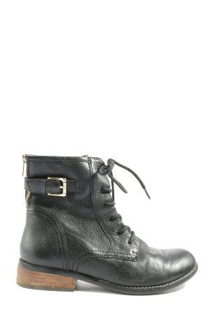 5 th Avenue Reißverschluss-Stiefeletten schwarz Casual-Look
