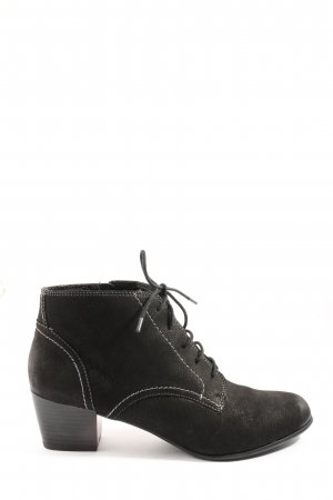 5 th Avenue Lace-up Booties black-white casual look
