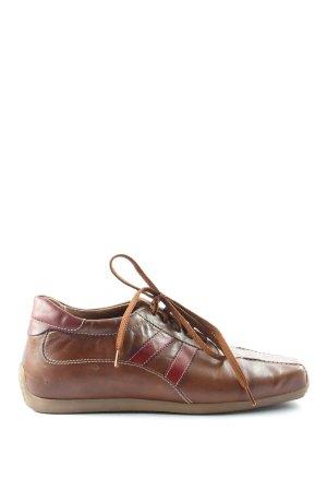 5 th Avenue Chaussures à lacets brun-rouge style décontracté
