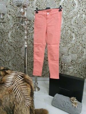 50 J Brand Skinny Jeans Hose Farbe Korall / Lachs Gr. 34 Blogger MEGA