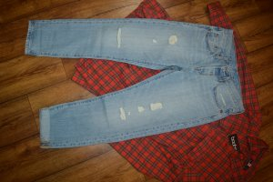 501 Levis Original Cropped Patched Jeans Gr. 38 Top