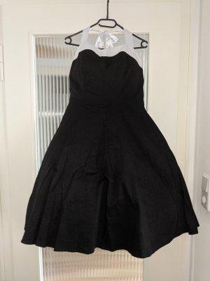 dress tells Abito a sottoveste nero-bianco Cotone