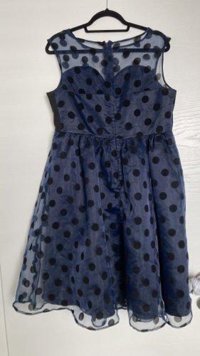 Lindy Bop Petticoat Dress dark blue-black polyester