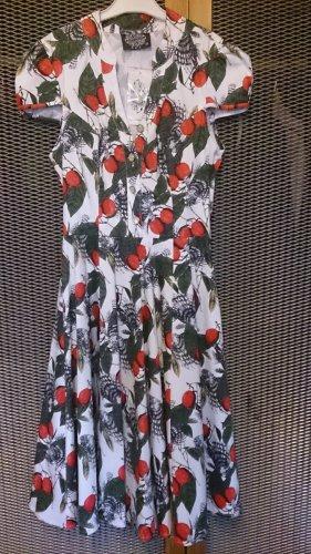 Chiffon jurk veelkleurig Katoen