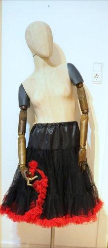 Vestido con enagua negro-rojo