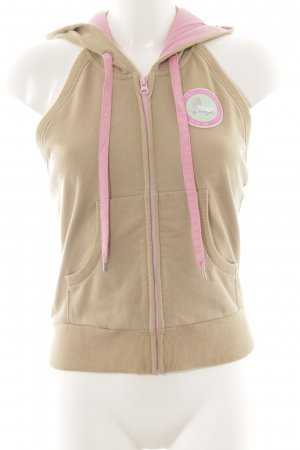 55 DSL Hooded Vest camel-pink athletic style