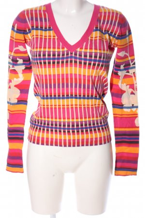 55 DSL V-Neck Sweater pink-primrose allover print casual look