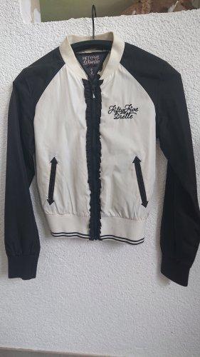 55 DSL College Jacket white-black